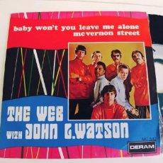 Discos de vinilo: THE WEB WITH JOHN L. WATSON-SINGLE BABY WONT YOU LEAVE ME ALONE-BUEN ESTADO. Lote 279509778