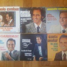 Discos de vinilo: 6 SINGLES MANOLO ESCOBAR. Lote 279510098