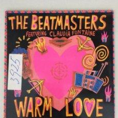 Discos de vinilo: THE BEATMASTERS FEATURING CLAUDIA FONTAINE. WARM LOVE. Lote 279519438
