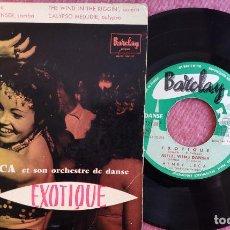 Discos de vinilo: EP HENRY LECA - EXOTIQUE / ALLEZ, VIENS DANSER +2 - BARCLAY 72318 - FRANCE PRESS (VG+/VG+). Lote 279521408