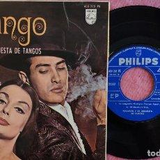 Discos de vinilo: EP MALANDO Y SU ORQUESTA - LA CUMPARSITA / EL CHOCLO +2 - PHILIPS 433 335 PE - SPAIN PRESS (EX/EX). Lote 279546763