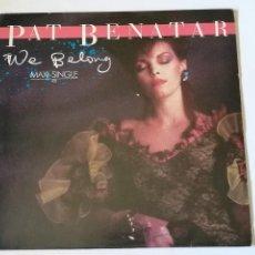 Discos de vinilo: PAT BENATAR - WE BELONG - 1984. Lote 279549868