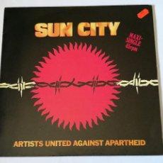 Discos de vinilo: ARTISTS UNITED AGAINST APARTHEID - SUN CITY - 1985. Lote 279551028