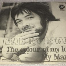 Discos de vinilo: SINGLE BARRY RYAN - THE COLOUR OF MY LOVE - MY MAMA - MGM 61.032 - PEDIDO MINIMO 7€. Lote 279552178