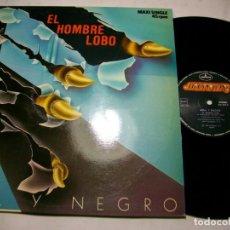 """Discos de vinilo: AZUL Y NEGRO EL HOMBRE LOBO MAXI 12"""" LP. Lote 279578818"""