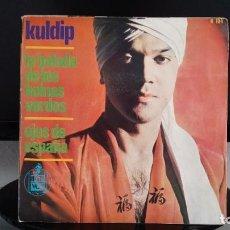 Discos de vinilo: *KULDIP - LA BALADA DE LOS BOINAS VERDES / OJOS DE ESPAÑA - SG AÑO 1966 - LEER DESCRIPCIÓN. Lote 279582113