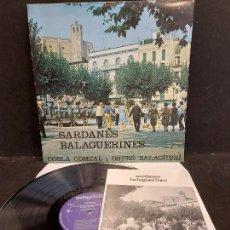 Discos de vinilo: COBLA COMTAL I ORFEÓ BALAGUERÍ / SARDANES BALAGUERINES / LP-ARTYPHON-1980 / MBC. ***/*** INSERTO. Lote 279593723