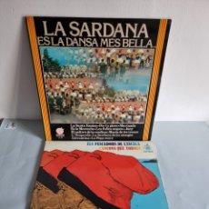 Discos de vinilo: 2 LP'S DE SARDANAS, HABANERAS Y CANCIONES POPULARES. Lote 279674368