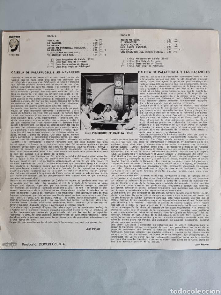 Discos de vinilo: 2 LPs de Habaneras, Grup Ventijol y Calella de Palafrugell - Foto 3 - 279741158