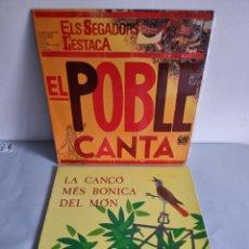 Discos de vinilo: 2 LP'S EL POBLE CANTA Y LA CANÇO MES BONICA DEL MON.. Lote 279961938