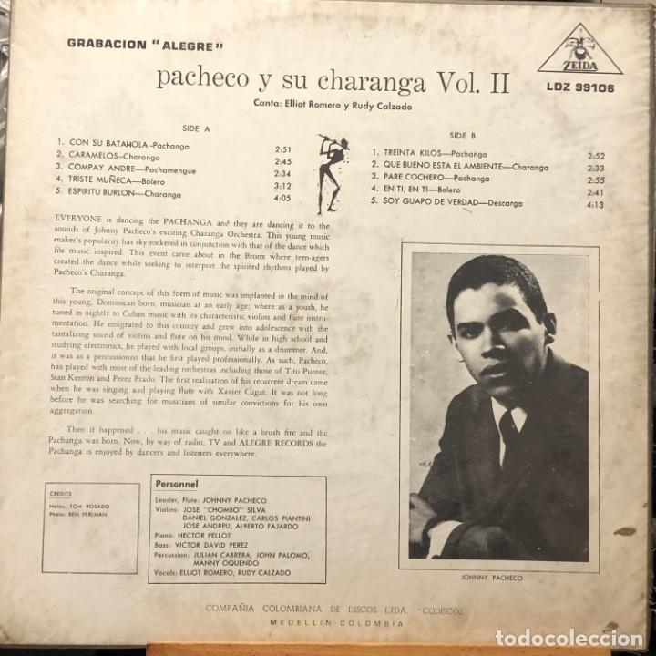 Discos de vinilo: LP colombiano de Pacheco y su Charanga año 1962 - Foto 2 - 280120263
