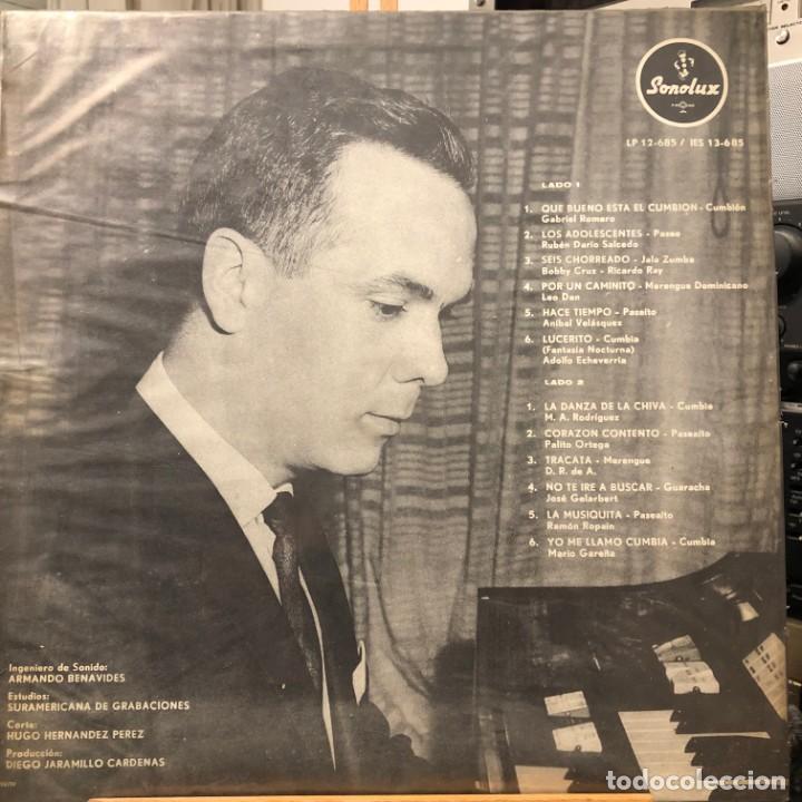 Discos de vinilo: LP colombiano de Jaime Llano González órgano y ritmos año 1968 - Foto 2 - 280121008