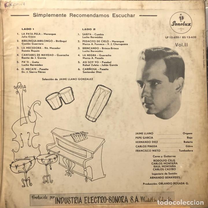 Discos de vinilo: LP colombiano de Jaime Llano González y su Conjunto Rítmico año 1968 - Foto 2 - 280121238