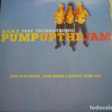 Discos de vinilo: D.O.N.S. FEAT. TECHNOTRONIC PUMP UP THE JAM. Lote 280123393