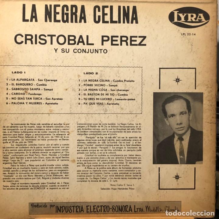 Discos de vinilo: LP colombiano de Cristóbal Pérez y su Conjunto año 1965 - Foto 2 - 280125613