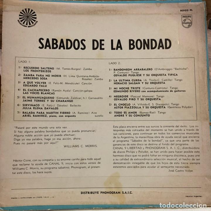 Discos de vinilo: LP argentino de artistas varios Sábados de la bondad año 1968 - Foto 2 - 280127243