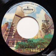 Discos de vinilo: THE BAR-KAYS: ATTITUDES + 1 - SINGLE - 1977 - MERCURY (USA) - CASI NUEVO (NM). Lote 280127333