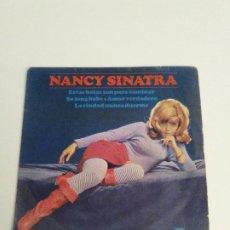 Discos de vinilo: NANCY SINATRA ESTAS BOTAS SON PARA CAMINAR THESE BOOTS ARE MADE FOR WALKIN + 3 (1965 REPRISE ESPAÑA). Lote 280155733