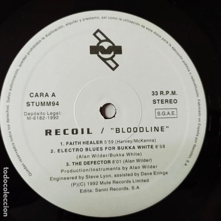 Discos de vinilo: RECOIL- BLOODLINE- SPAIN LP 1992 + ENCARTE- DEPECHE MODE- VINILO CASI NUEVO. - Foto 3 - 280158088