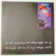 Discos de vinilo: BJÖRK- THE BEST MIXES FROM THE ALBUM DEBUT FOR ALL THE PEOPLE WHO DON´T BUY WHITE LABELS-LP UK 1994.. Lote 280172343