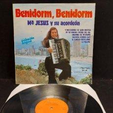 Discos de vinilo: Mª JESÚS Y SU ACORDEÓN / BENIDORM, BENIDORM / LP - OLYMPO-1979 / MBC. ***/***. Lote 280214018