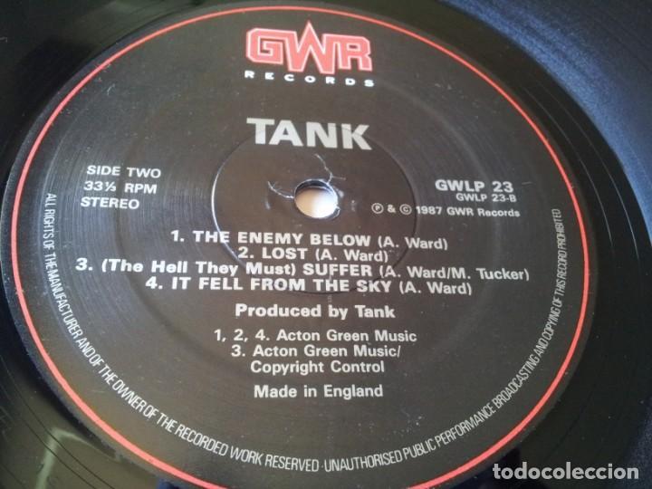 Discos de vinilo: Tank - Tank - Lp original GWR records 1987 edicion UK - Foto 7 - 280217508