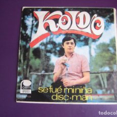 Disques de vinyle: KOLDO – SE FUE MI NIÑA / DISC-MAN - SG CEM 1968 - LEVE USO EN VINILO Y PORTADA -PSICODELIA POP. Lote 280268938