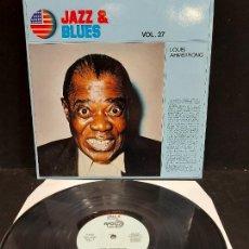 Discos de vinilo: JAZZ & BLUES / 27 / LOUIS ARMSTRONG / LP - APOLO RECORDS-1982 / MBC. ***/***. Lote 280270193