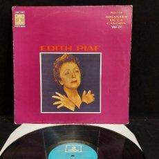 Discos de vinilo: EDITH PIAF / GIGANTES DE LA CANCIÓN / 24 / LP - ODEON-1970 / MBC. ***/***. Lote 280270733