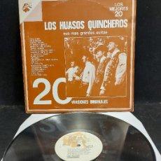 Discos de vinilo: LOS HUASOS QUINCHEROS / SUS MÁS GRANDES ÉXITOS / LP - MARFIL-CHILE / MBC. ***/***. Lote 280286808
