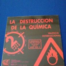 Discos de vinilo: LA DESTRUCCION DE LA QUÍMICA (MEGAHOUSE) RUTA DEL BACALAO VINILO. Lote 280294293