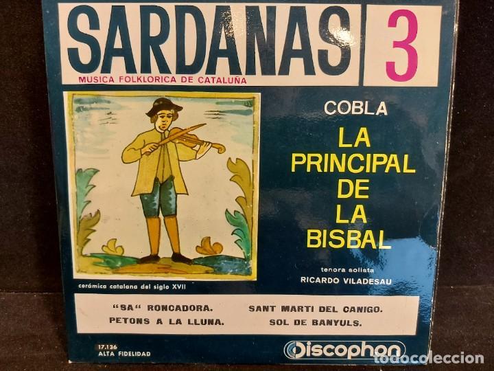 Discos de vinilo: COBLA LA PRINCIPAL DE LA BISBAL / SARDANAS / CONJUNTO DE 9 EPS-DISCOPHON / DE MUY BUENA CALIDAD. - Foto 4 - 280379783