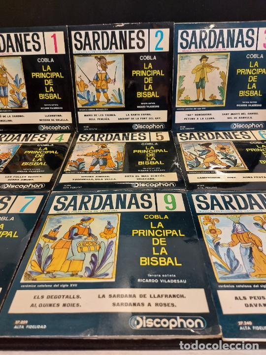 COBLA LA PRINCIPAL DE LA BISBAL / SARDANAS / CONJUNTO DE 9 EPS-DISCOPHON / DE MUY BUENA CALIDAD. (Música - Discos de Vinilo - EPs - Country y Folk)