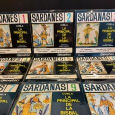 Discos de vinilo: COBLA LA PRINCIPAL DE LA BISBAL / SARDANAS / CONJUNTO DE 9 EPS-DISCOPHON / DE MUY BUENA CALIDAD.. Lote 280379783