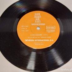 Discos de vinilo: 33 R.P.M. / 365 DÍAS DE 1971 / VOCES Y CANCIONES / EP-DIFUSORA INTERNACIONAL-1972 / MBC. ***/***. Lote 280387403