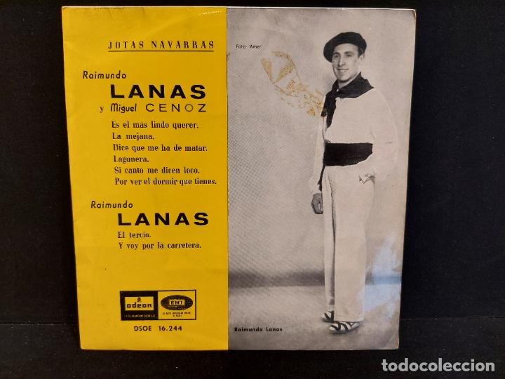 RAIMUNDO LANAS Y MIGUEL CENOZ / JOTAS NAVARRAS / EP - ODEON-1958 / MBC. ***/*** (Música - Discos de Vinilo - EPs - Country y Folk)