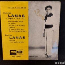 Discos de vinilo: RAIMUNDO LANAS Y MIGUEL CENOZ / JOTAS NAVARRAS / EP - ODEON-1958 / MBC. ***/***. Lote 280394048