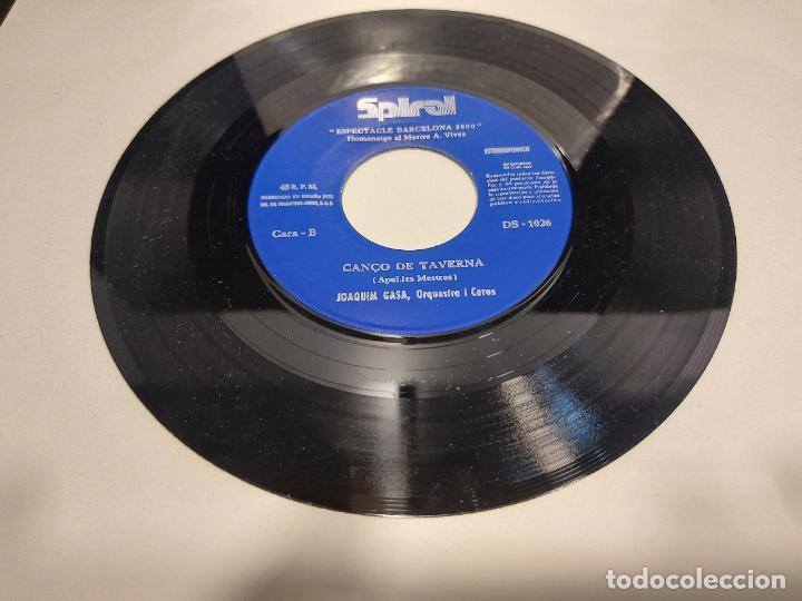 Discos de vinilo: JOAQUIN GASA / LEMIGRANT-CANÇÓ DE TAVERNA / SINGLE-SPIRAL-1971 / MBC. ***/*** - Foto 3 - 280395298