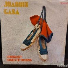 Discos de vinilo: JOAQUIN GASA / L'EMIGRANT-CANÇÓ DE TAVERNA / SINGLE-SPIRAL-1971 / MBC. ***/***. Lote 280395298