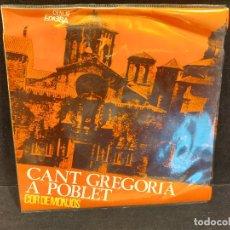 Discos de vinilo: COR DE MONJOS / CANT GREGORIÀ A POBLET / EP - EDIGSA-1965 / MBC. ***/***. Lote 280395708