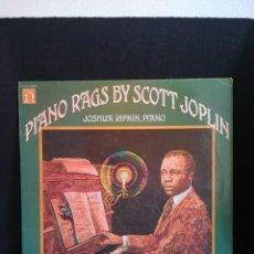 Discos de vinilo: LP SCOTT JOPLIN, JOSHUA RIFKIN - PIANO RAGS, 1970 UK. Lote 280398263