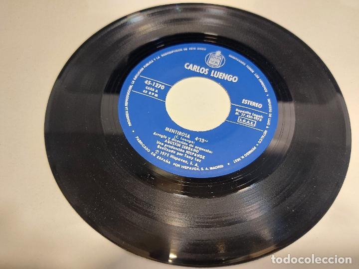 Discos de vinilo: CARLOS LUENGO / MENTIROSA / SINGLE - HISPAVOX-1975 / MBC. ***/*** - Foto 3 - 280398653