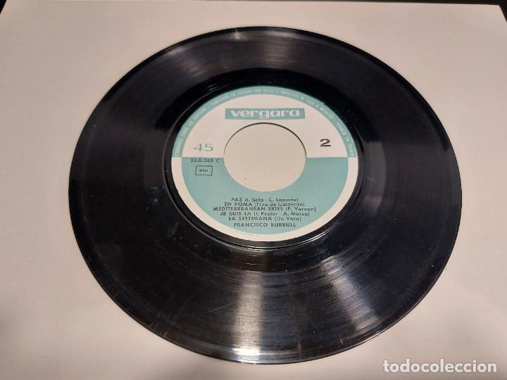Discos de vinilo: LOS 10 ÉXITOS DEL FESTIVAL DE LA CANCIÓN MEDITERRÁNEA / EP-VERGARA-1963 / MBC. ***/*** - Foto 3 - 280400123