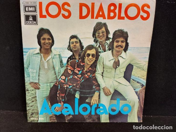 LOS DIABLOS / ACALORADO-CUARTO DE ESTAR / SINGLE - ODEON-1974 / MBC. ***/*** (Música - Discos - Singles Vinilo - Grupos Españoles de los 70 y 80)