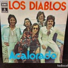 Discos de vinilo: LOS DIABLOS / ACALORADO-CUARTO DE ESTAR / SINGLE - ODEON-1974 / MBC. ***/***. Lote 280401008