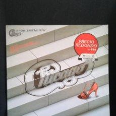 Discos de vinilo: LP CHICAGO - IF YOU LEAVE ME NOW, ESPAÑA 1983, LABEL ROJO, PRECIO REDONDO. Lote 280408433