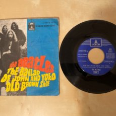 "Discos de vinilo: THE BEATLES - THE BALLAD OF JOHN AND YOKO / OLD BROWN SHOE - SINGLE 7"" - 1969 SPAIN. Lote 280459693"