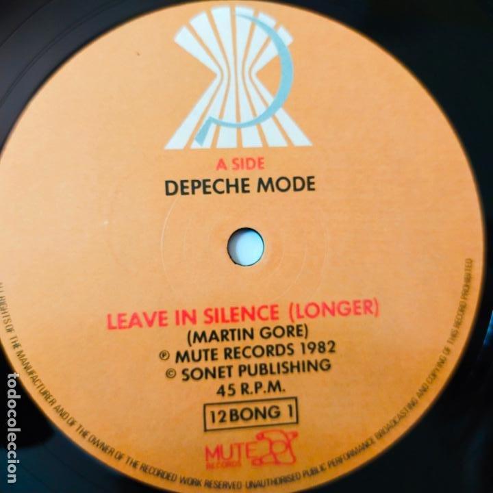 Discos de vinilo: DEPECHE MODE- LEAVE IN SILENCE- UK MAXI SINGLE 1982- VINILO CASI NUEVO. - Foto 3 - 280504243
