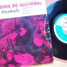 Discos de vinilo: LOS CAÑONES DE NAVARONE. SINGLE 45RPM BANDA SONORA DE PELICULA, DIMITRI TIOMKIN -KURT HENKELS BAND. Lote 280610993