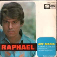 Discos de vinilo: RAPHAEL - AVE MARIA, HAVA NAGUILA, LA PRIMERA PIEDRA.../ EP EMI DE 1968 RF-4999. Lote 280717683